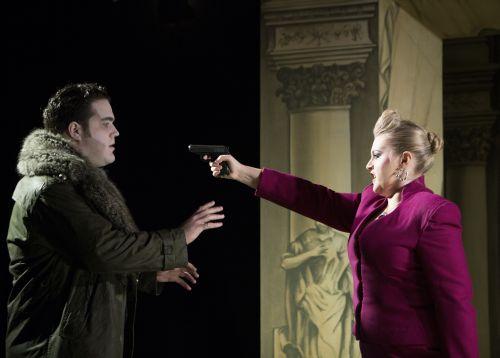 Andrew McTaggart, Sioned Gwen Davies as Garibaldo,Eduige,Scottish Opera  Rodelinda Credi KK Dundas