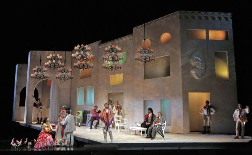 The Barber of Seville: Set design by Llorenc Corbella. Photo ©Cory Weaver/San Francisco Opera.2