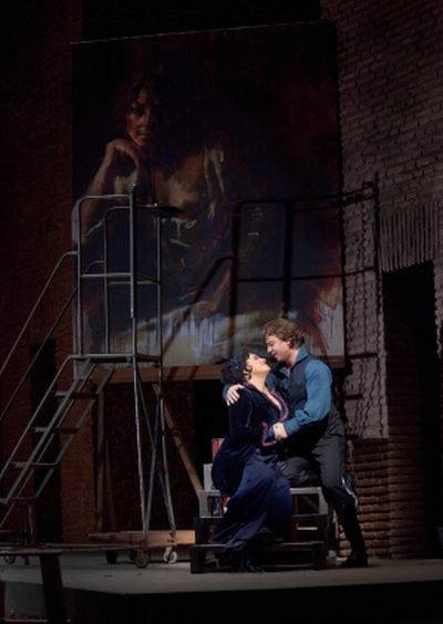 Tosca Patricia Racette as tosca roberto lagna-ascavaradossi-photo by ken howard