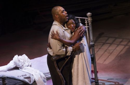 Porgy (Derrick Lawrence) and Bess (Elizabeth Llewellyn). Photo: Miklos Szabo