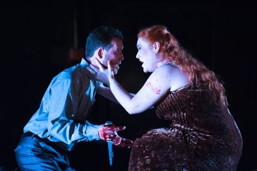 David Stephenson as Macbeth & Elisabeth Meister as Lady Macbeth. Scottish Opera 2014. Credit Tommy Ga-Ken Wan.