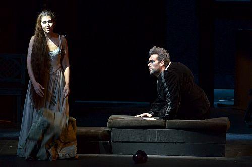 Rigoletto -   Natalia Quiroga Romero (Gilda) and Ernesto Bauer (Rigoletto) in Juventus Lyrica's 2014 production of Rigoletto. Photo Liliana Morsia.