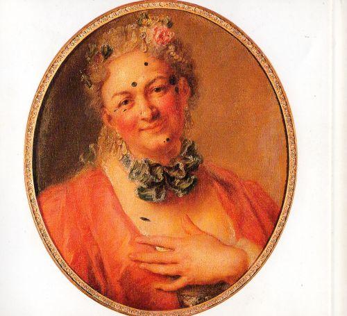 Portrait de l'acteur Jelyotte en costume de femme. Musée. The first Platée.