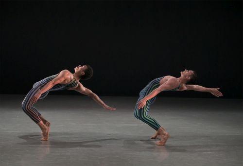 Northern Ballet dancers Isaac Lee Baker and Nicola  Gervasi in  Concertante-