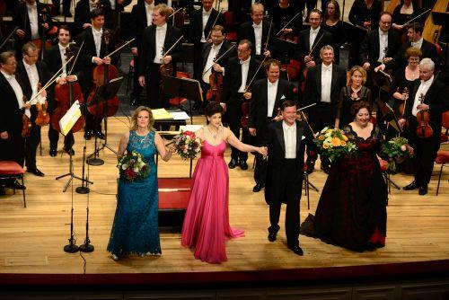 Camilla Nylund, Anja Harteros, Christian Thielemann & Christine Goerke © Matthias Creutziger