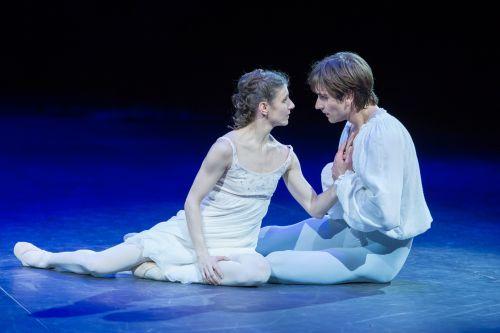 Alina Cojocaru & Friedemann Vogel during a rehearsal for English National Ballet's Romeo & Juliet at The Royal Albert Hall, London on June 11, 2014. Photo: Arnaud Stephenson