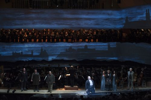 "The San Francisco Symphony and Michael Tilson Thomas perform Benjamin Britten's ""Peter Grimes.""  On Thursday night, June 26, 2014. PHOTO CREDIT:  Stefan Cohen"