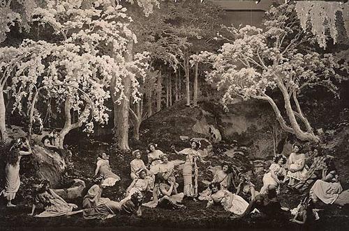 Arcadians stage scene showing similarity