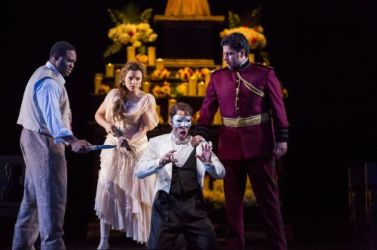 "(L to R): Michael Sumuel, Andriana Chuchman, Kyle Ketelsen and Antonio Poli in ""Don Giovanni""  (c) Todd Rosenberg"
