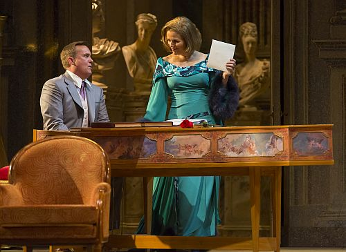 William Burden as Flamard and Renée Fleming as the Countess in Lyric Opera of Chicago's Capriccio.   Photo: Todd Rosenberg