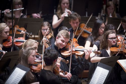 The National Youth Orchestra of Great Britain perform at The Barbican, London. Sunday, Jan. 4, 2015. Photographer: Jason Alden  Photographer: Jason Alden www.jasonalden.com 0781 063 1642
