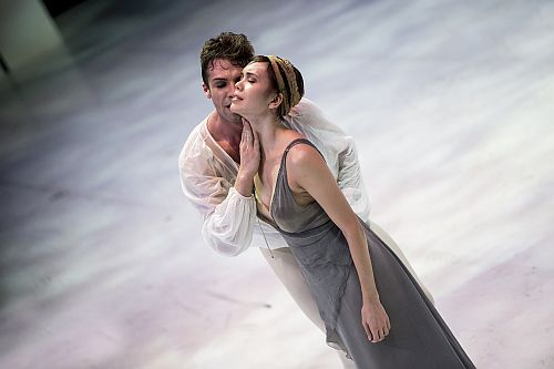Photo credit Alice Blangero. -  Lucien Postlewaite (Romeo) and Noelani Pantastico (Juliet)