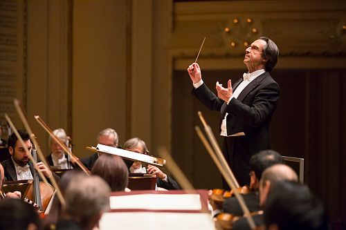 Riccardo Muti and the Chicago Symphony Orchestra (Photo: the Chicago Symphony Orchestra