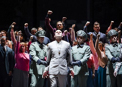 A scene from Poliuto by Gaetano Donizetti @ Glyndebourne. Directed by Mariame Clement. Conducted by Enrique Mazzola. (Opening 21-05-15) ©Tristram Kenton 05/15 (3 Raveley Street, LONDON NW5 2HX TEL 0207 267 5550  Mob 07973 617 355)email: tristram@tristramkenton.com
