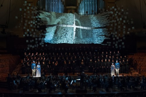 "The San Francisco Symphony performs Beethoven's ""Missa solemnis,"" with Michael Tilson Thomas. Soloists (L to R): Brandon Jovanovich, Sasha Cooke, Joélle Harvey, Shenyang  (Photo: Stefan Cohen)"