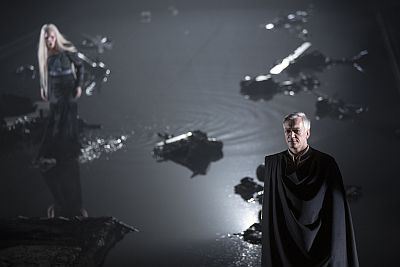 Cecilie Nerfont Thorgersen (Proserpina), foreground: Jan Kyhle (Orfeo). Photo: Mats Bäcker.