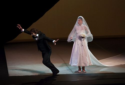 "Dancers Natalia Osipova and Ivan Vasiliev perform ""Solo for Two"" at the Segerstrom Center for the Arts in Costa Mesa, California on July 25, 2014. Picture Credit Douglas Gifford"