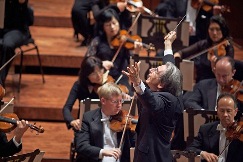 Michael Tilson Thomas conducts the San Francisco Symphony performing Mahler's Symphony No. 5 on September 3, 2010 in Davies Symphony Hall. photo: Bill Swerbenski
