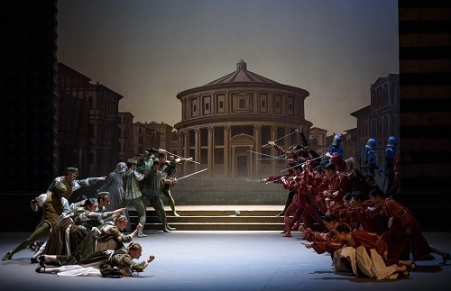 ROMEO and JULIET, English National Ballet_ Bristol Hippodrome; Juliet; Alina Cojocaru, Romeo; Isaac Hernández, Mercutio; Cesar Corrales, Benvolio; James Forbat, Tybalt; James Streeter, Rosaline; Alison McWhinney, Paris; Max Westwell,