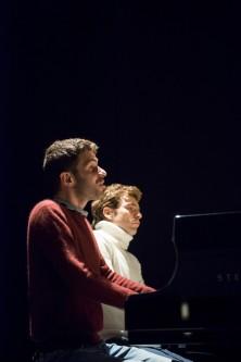 Adam Laloum and David Kadouch in rehearsal; Photo credit  - Mariona Vilaros.