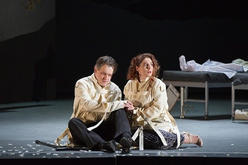 WNO Figaro Gets a Divorce. Mark Stone (Count) and Elizabeth Watts (Countess). Photo credit - Richard Hubert Smith  4742