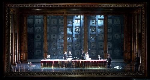The final scene of Teatro Colón's Don Giovanni. (Photo credit: Arnaldo Colombaroli)
