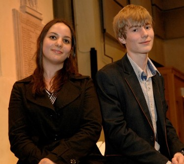 NCEM Young Composers Award 2016 Winners - Kristina Arakelyan and under 18 winner AlexDakin