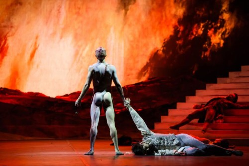 <i>Frankenstein</i> with Steven McRae as The Creature & Federico Bonelli as Victor Frankenstein and Alexander Campbell as Clerval ©ROH 2016. Ph by Bill Cooper (2)