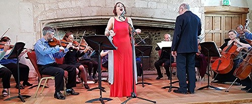 Merit Ariane Stephanos with Dartington Chamber Orchestra - credit Philip R Buttall
