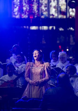 """""""Ex Cathedra perform Shakespeare Odes at Shakespeare's church in Stratford-upon-Avon Credit John James / University of Birmingham"""""""