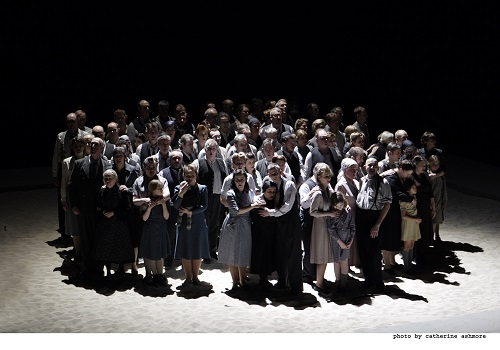 NABUCCO ; Music by Giuseppe Verdi (1813-1901) ; The Royal Opera Chorus (as Hebrews) ; The Royal Opera ; At the Royal Opera House, London, UK ; 30 March 2013 ; Credit: Catherine Ashmore / Royal Opera House / ArenaPAL ;