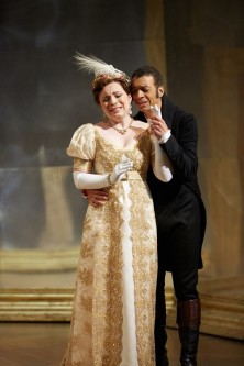 Natalya Romaniw (Tatyana), Roderick Williams (Onegin): credit - Mark Douet.
