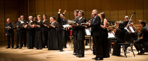 Alexander Weimann directs Bach Mass in B Minor at the Chan Centre, which was part of the Vancouver Early Music Bach Festival. Photo courtesy of Jan Gates.