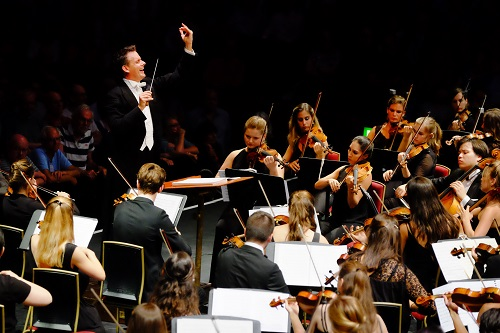 Prom 60: J.S.Bach: Cantata No.82, 'Ich habe genug', Bruckner: Symphony No.9 in D Minor performed by the Gustav Mahler Jugendorchester, conducted by Philippe Jordan at the RAH on Tuesday 30 Aug. 2016. Photo by Mark Allan