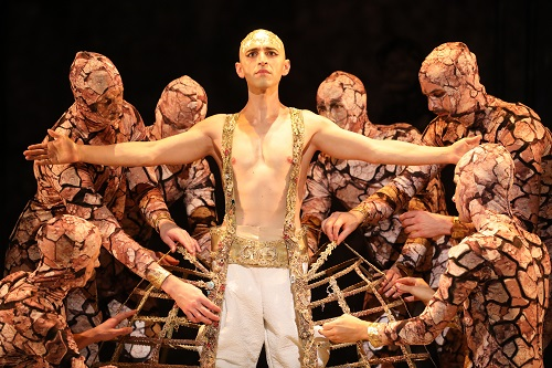 Anthony Roth Costanzo in the title role of Akhnaten. Credit: Craig T. Mathew