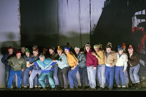 Welsh National Opera Chorus - the assassins of Banquo.  Photo credit: Richard Hubert Smith.