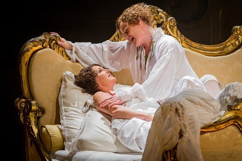 Ylva Kihlberg as The Marschallin and Helen Sherman as Octavian. Photo credit: Robert Workman.