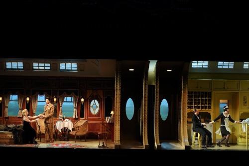 Sally Matthews, Joel Prieto, So Young Park and Brenton Ryan in The Abduction from the Seraglio (photo: Craig T. Mathew/LA Opera)