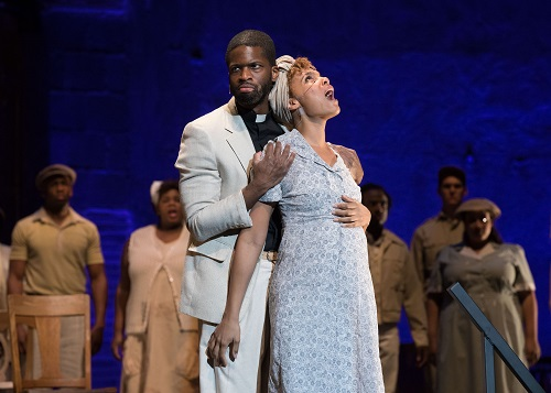 Justin Hopkins & Lauren Michelle in Lost in the Stars;  Photo credit: Reed Hutchinson.