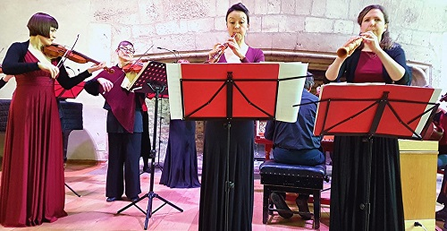 Devon Baroque with Oonagh Lee and Sarah Humphrys (oboes); photo credit - Philip R Buttall.