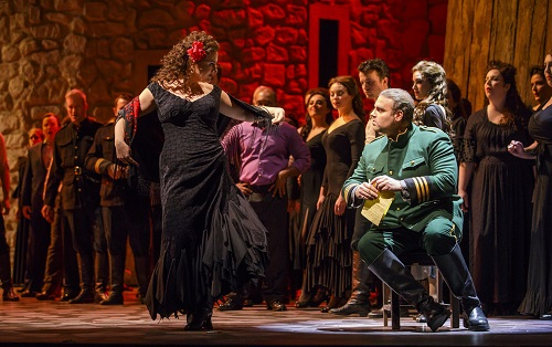 Ekaterina Gubanova and Joseph Calleja in 'Carmen' (Photo: Todd Rosenberg)
