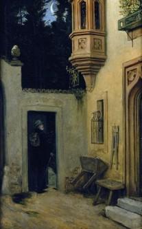 Moritz van Schwind: 'Abschied im Morgengrauen' (Farewell at Dawn), 1859