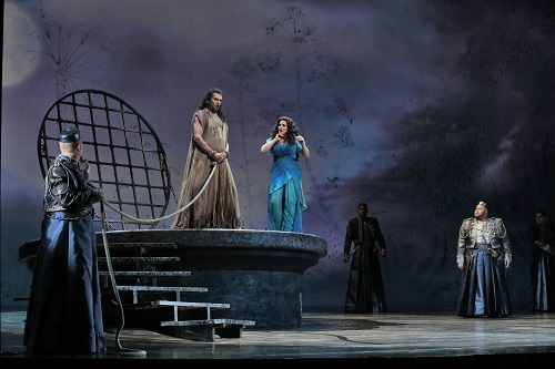 Tomas Tomasson as John the Baptist and Patricia Racette as Salome. Photo credit: Ken Howard Best,