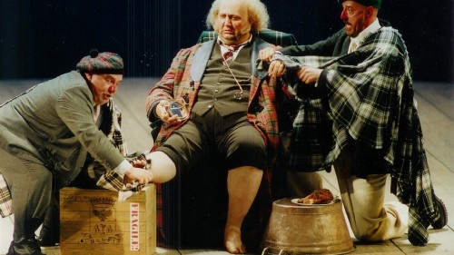 Ambrogio Maestri as Falstaff, Bayerische Staatsdoper, photo Eike Gramss