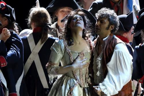 Andrea Chenier, Kaufmann & Harteros, photo courtesy Bayerische Staatsoper