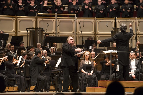 2/23/17 9:22:26 PM  Chicago Symphony Orchestra Riccardo Muti Conductor Gérard Depardieu Ivan Yasen Peyankov narrator Michael Brown The Holy Fool Sasha Cooke mezzo-soprano Mikhail Petrenko bass Chicago Symphony Chorus  Duain Wolfe chorus director Chicago Children's Choir Josephine Lee artistic director Prokofiev's Ivan the Terrible © Todd Rosenberg Photography 2017