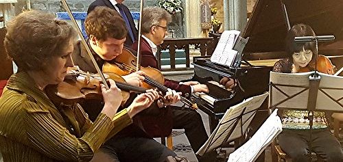Dante Quartet with Mark Bebbington - credit Philip R Buttall,