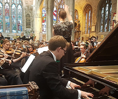 North Devon Sinfonia with Dominic Carter; photo credit Philip R Buttall.