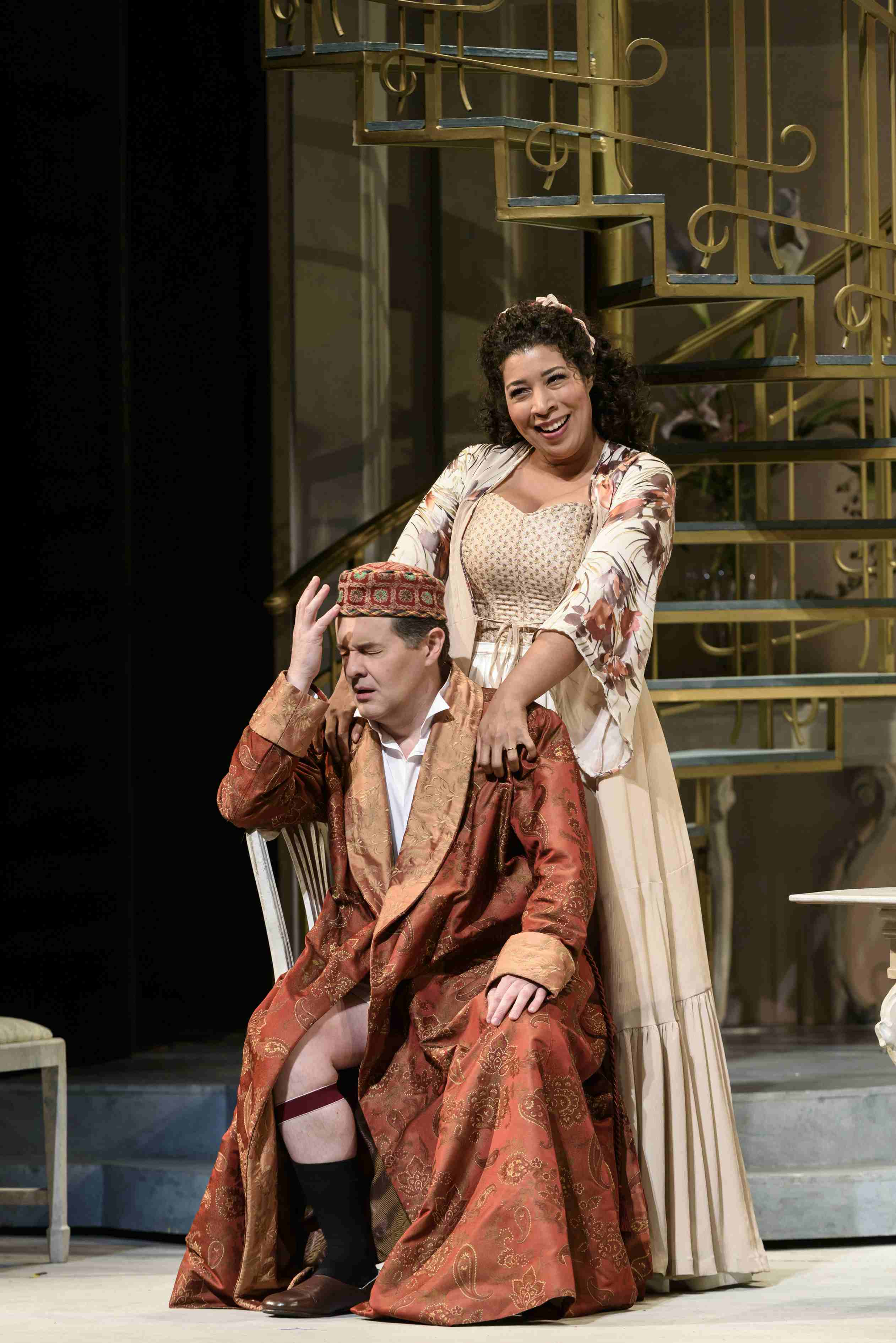 Fine frocks and farce in wno s entertaining and musically for Farcical opera