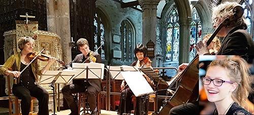 Dante Quartet with Alinka Rowe (inset) (c) Philip R Buttall